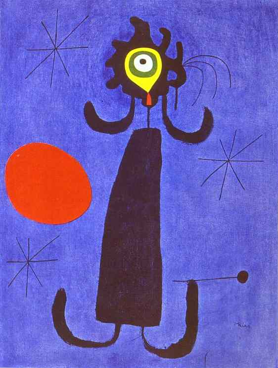 Woman in Front of The Sun, Joan Miro, 1950.