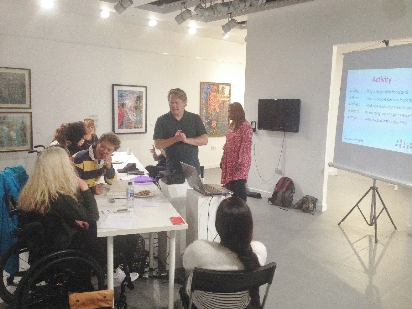 Workshop taking place in our pop-up gallery.