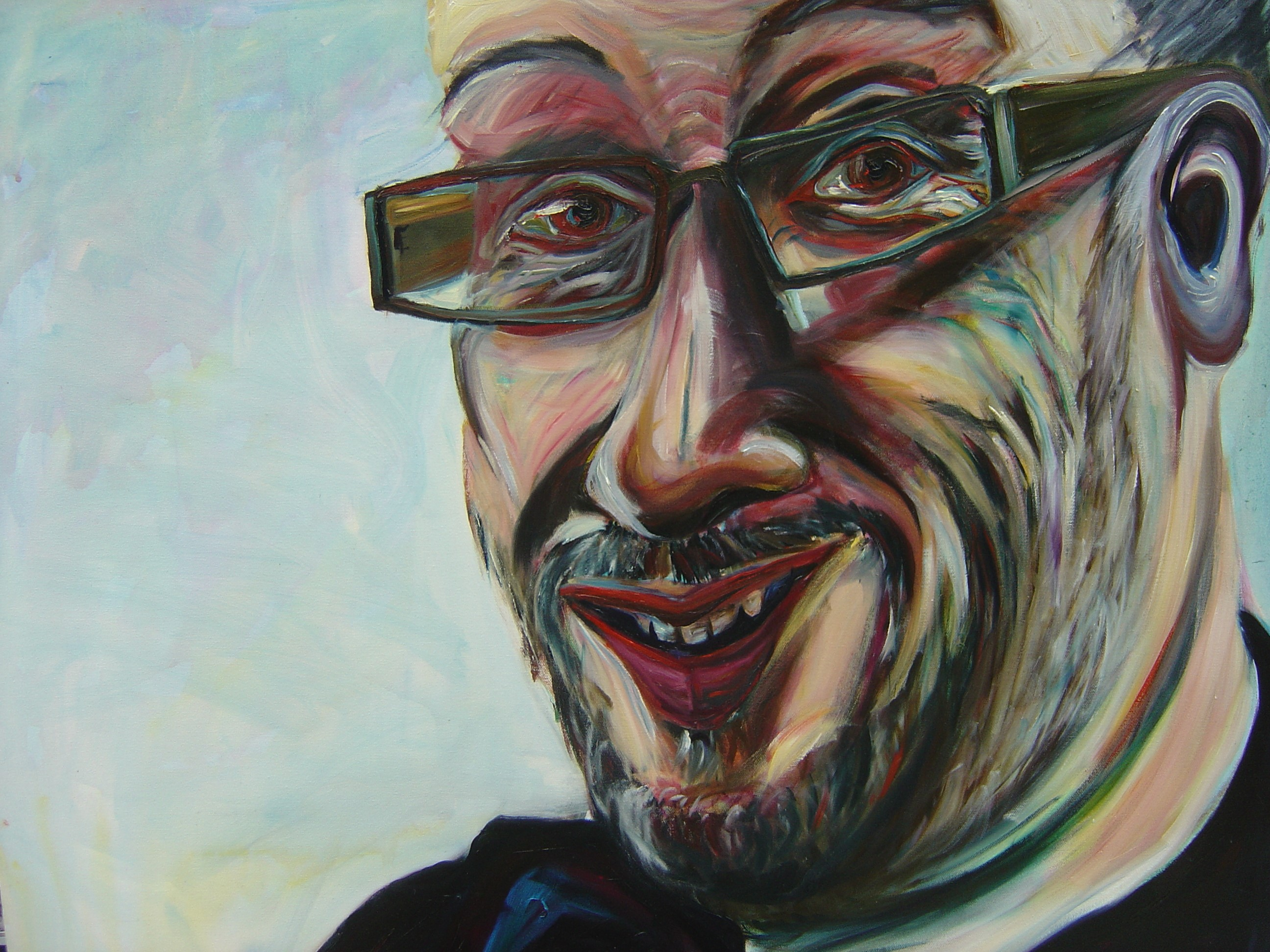Painting of Tony Heaton OBE, NDACA Founder by Tanya Raabe