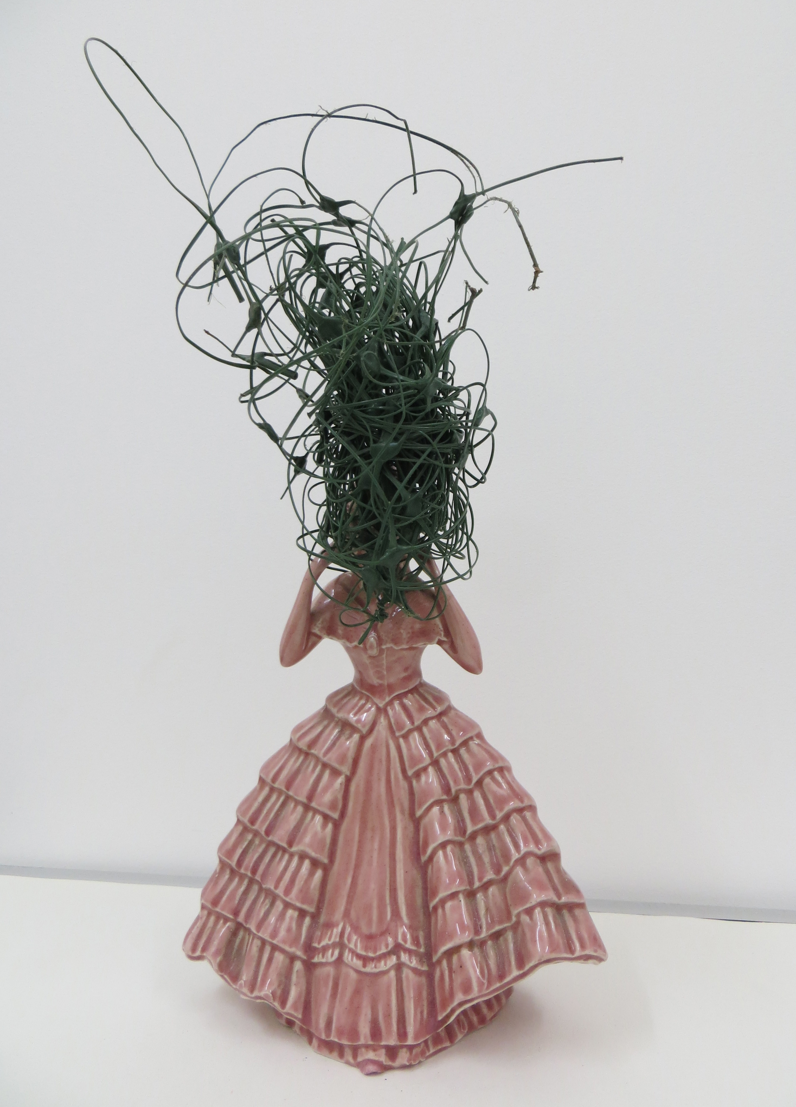 Kate Murdoch - Bad Head Day - Ceramic and plastic wire - 10x20x8