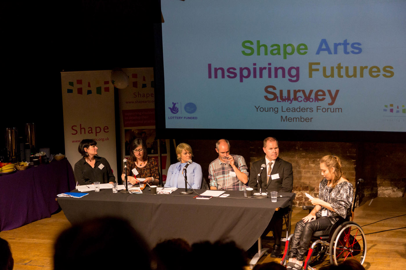 panel discussion at the Roundhouse Inspiring futures event