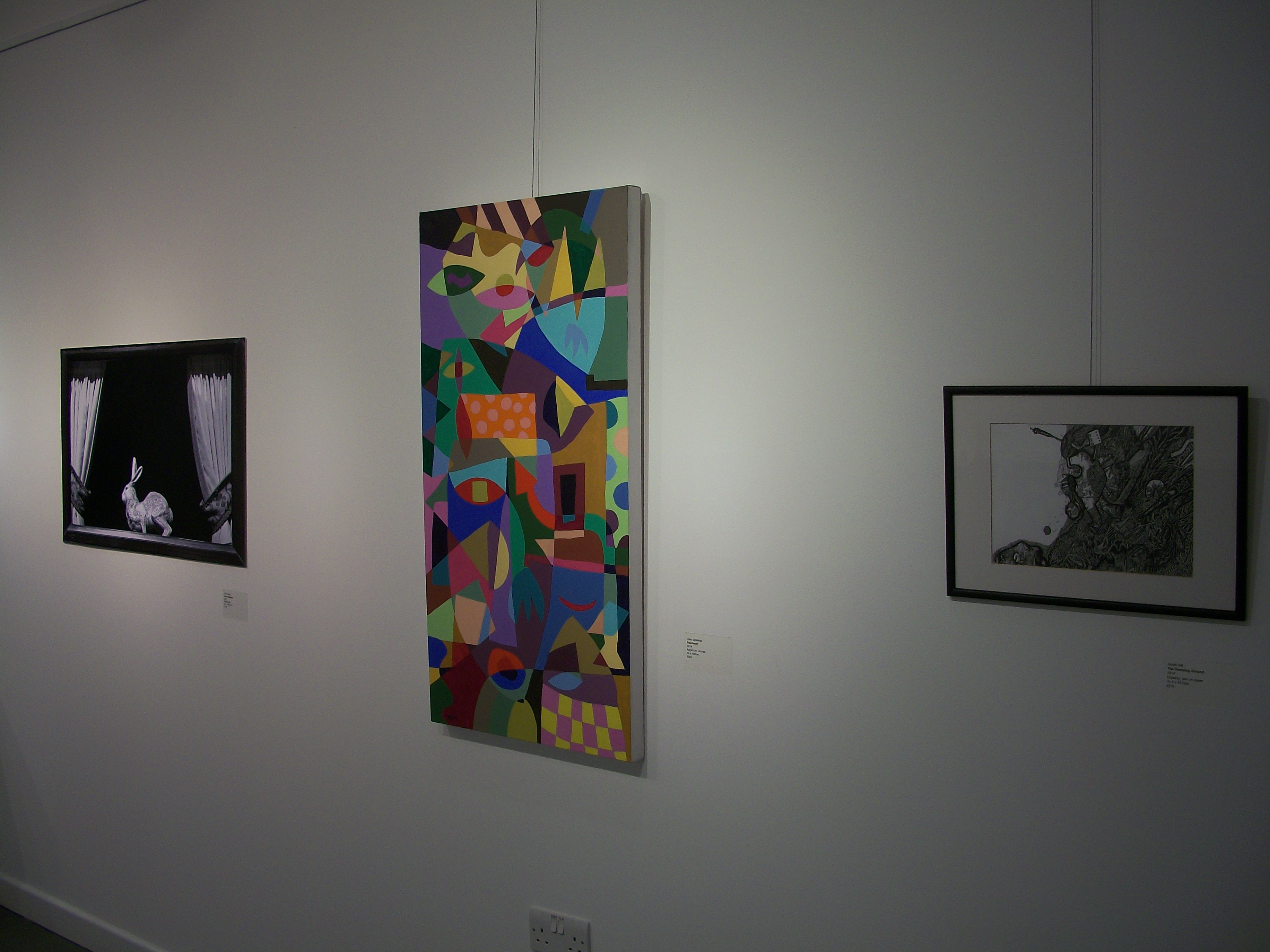View of three works, part of the new general exhibition at Shape Gallery