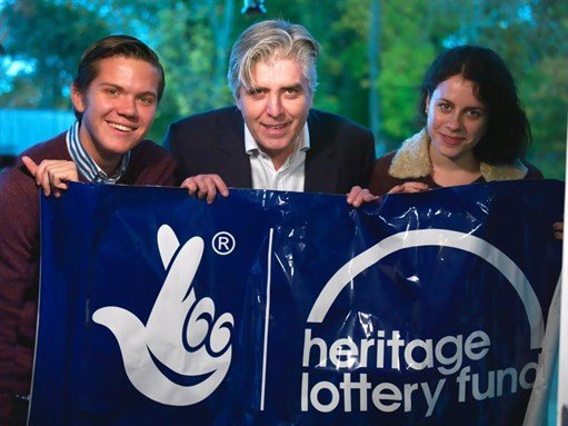 NDACA team holding the Heritage lottery Fund banner