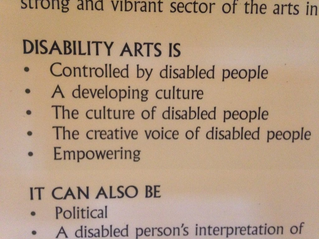 A great find at Holton Lee, one of the birthplaces of the disability arts movement.
