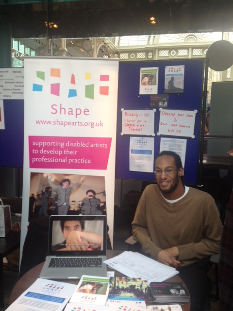 Revell volunteering at the Inspiring Futures stand.