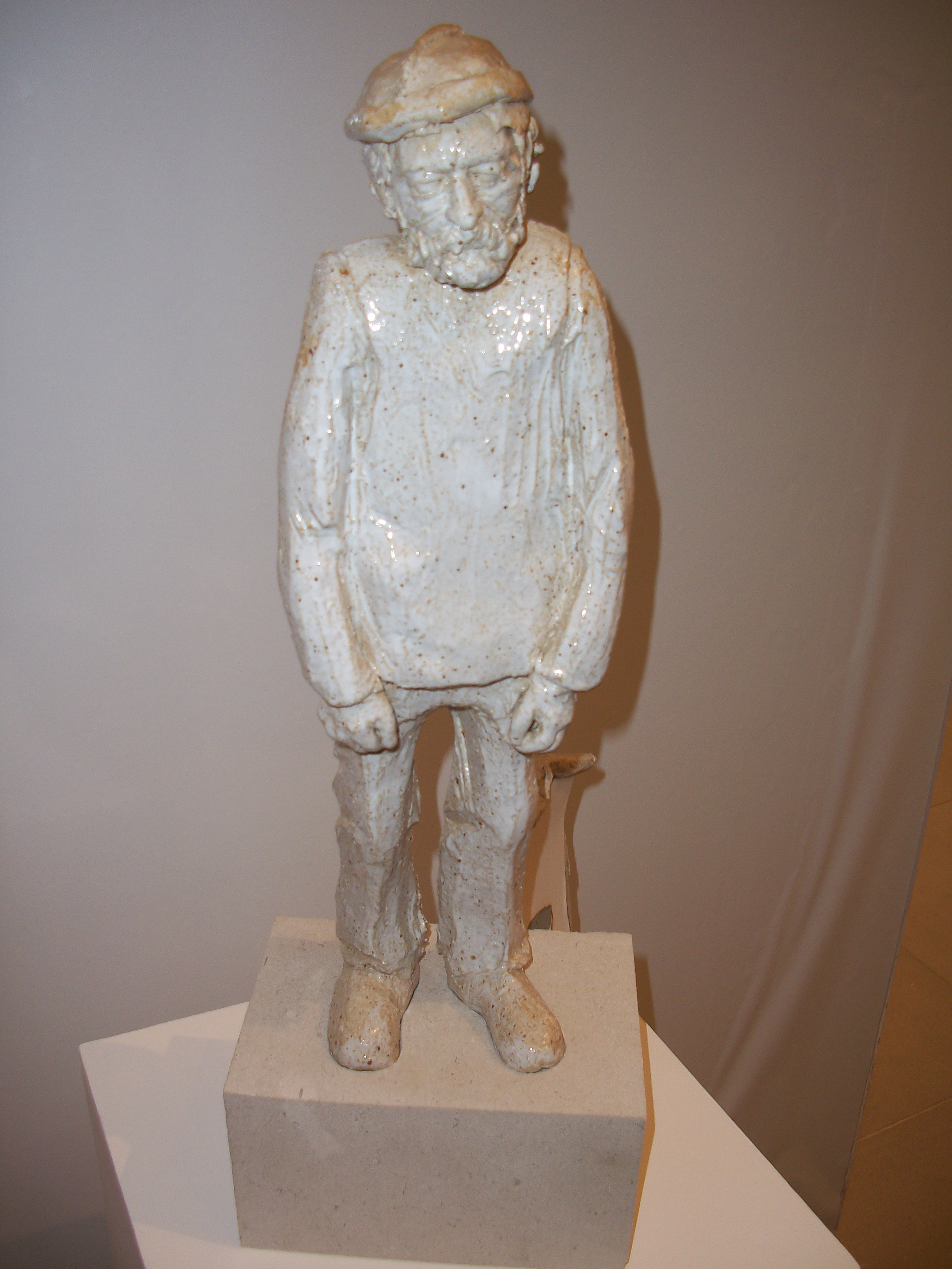 Michael Brown 'Maurice' - stoneware sculpture of an elderly man