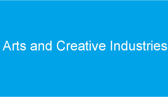 wording reads Arts and Creative Industries
