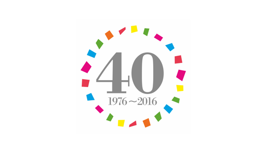 shapes 40th anniversary logo, 1976-2016