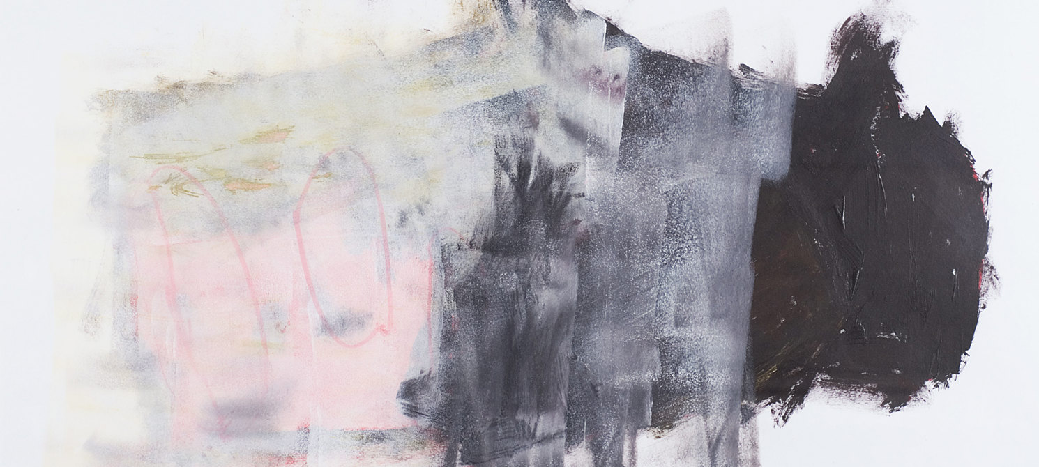 Shape Collection: Jonathan Rogers - Abstract in Pink, Grey and Black