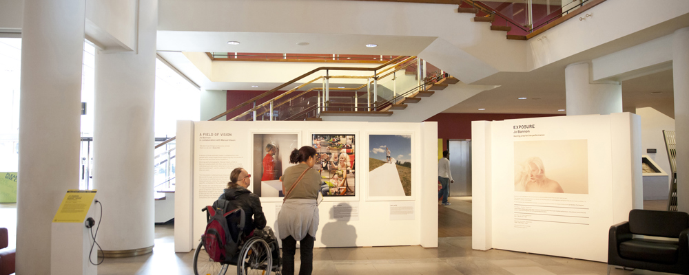 visitors exploring southbanks unlimited festival exhibition, september 2014