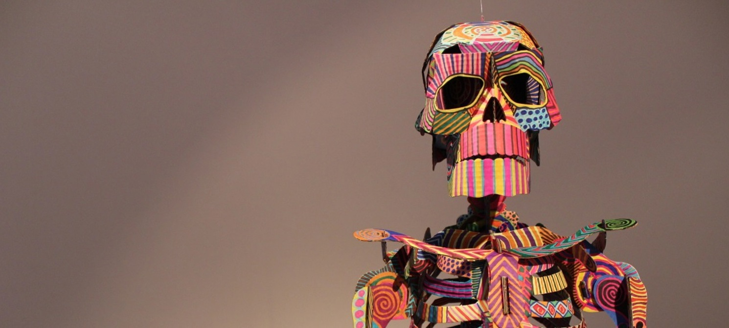 Skeleton by Lea Cummings, part of Infinite Psychic Love Explosion! exhibition