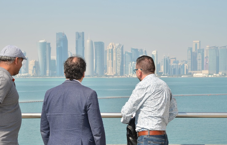 Qatar residency - artists look out over Doha