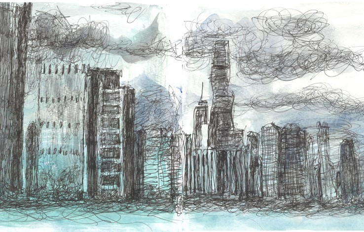 Sketch of the Chicago skyline
